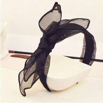 Classical bow headband bowknot hairpins clips strings headband barrettes girls women hairbands hair accessoies new year gifts