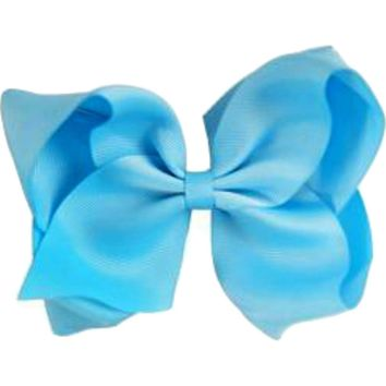 Grosgrain Boutique Hairbow, Turquoise