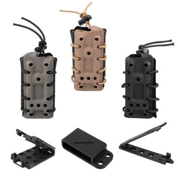 Tactical 45acp Pistol Magazine Pouch Military Belt Molle Standard Carrier System with Flocking Magazine Holster for 1911