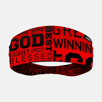 Inspirational Red Doublesided Headband