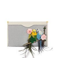 Anya Hindmarch Mesh Clutch Embellished Budg