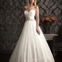 Allure Bridals 9014 Tulle Ball Gown Wedding Dress