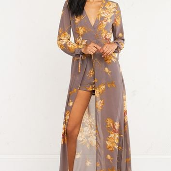 FONDLY YOURS FLORAL LONGSLEEVE ROMPER - What's New