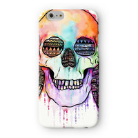 Watercolour Skull II Full Wrap 3D Printed Case  for Apple iPhone 6 by UltraCases