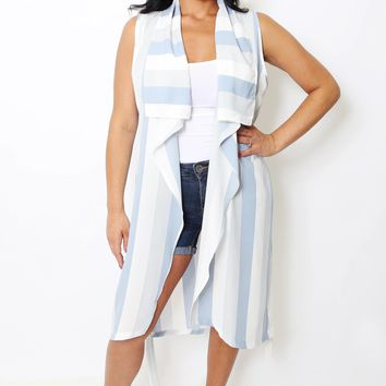 Carolina Sleeveless Striped Vest