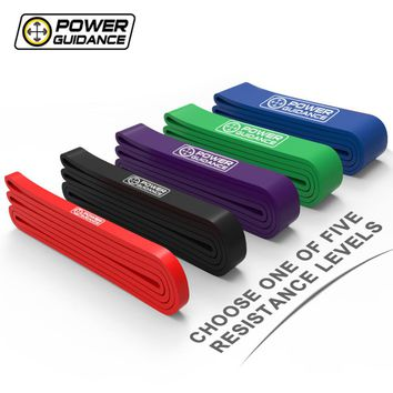 POWER GUIDANCE Resistance Pull up Bands Latex Streching Band Loop Strap For Crossfit Gymnastics Fitness Powerlifting Free Bag