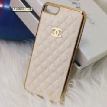 Designer inspired Chanel CC Iphone 5/5S Leather hard back Case, White with gold CC logo and frame.luxury style and touch feeling,BUY one get one matched Free 3.5mm diamond Anti dust Ear Cap Dock Plug,Shipping from Alberta,Canada:Amazon:Electronics