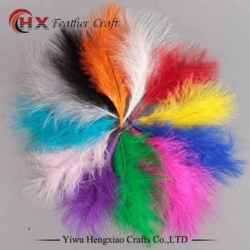 Factory 50pcs 4-6 Inches 10-15 cm Chicken Plumes Turkey Marabou Feathers for Carnival Halloween Christmas DIY craft