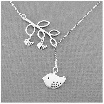 Blessed Birds On The Branch Necklace