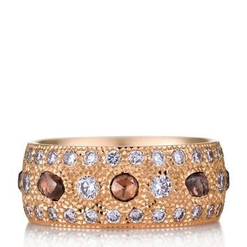 De Beers Rose Gold and Diamond Talisman Ring | Harrods.com