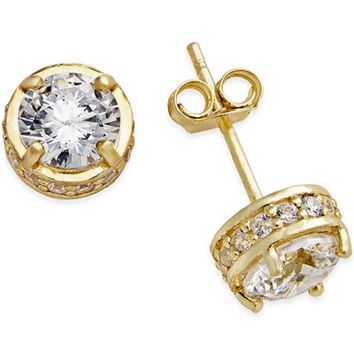 e7e976087351bf Giani Bernini Fancy Stud Earrings in 18k Gold over Sterling Silver -  Diamonds - Jewelr