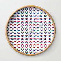 flag of south korea-korea,asia, 서울특별시,부산광역시, 한국,seoul Wall Clock by oldking