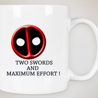 Deadpool, Deadpool Mug,Custom Mug, Deadpool Face, Custom GIft, Birthday Gift, Great Ass,Bad Ass, Funny Gift, Coffee Mug,Cute Gift Box