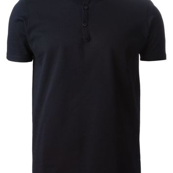 Lanvin satin collar polo shirt