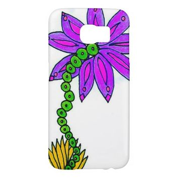 Flower Drawing Samsung Galaxy S6 Case
