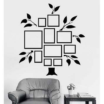 Vinyl Wall Decal Family Tree Frames For Photos Design for Living Rooms Stickers Unique Gift (810ig)