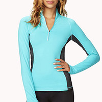 High-Collar Contrast Running Jacket