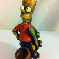 Tobacco Hand Made Pipe, Bart Simpson Design