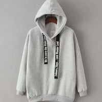 Hooded Sweatshirt with Fleece Lining