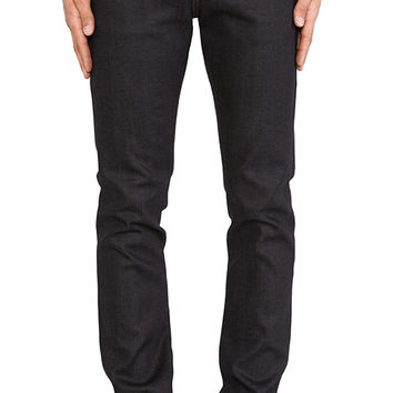 Naked & Famous Denim Super Skinny Guy Stretch Selvedge 11.5 oz. in Deep Indigo
