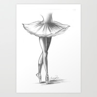 Ballerina - Ashley Rose Art Print by AshleyRose