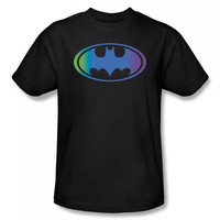Batman Gradient Color Logo Mens T-Shirt