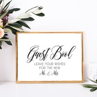 Sign the guest book - Wedding guest book sign, Wedding downloads, Wedding printable signs, Elegant wedding reception decor, Elegant signs