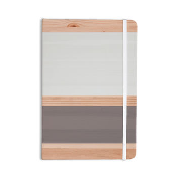"KESS Original ""Spring Swatch - Grey"" Gray Wood Everything Notebook"