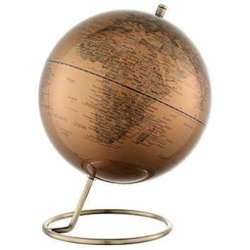 Metallic World Map Globe
