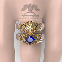 Legend of Zelda SWORDS Hyrule Crest wedding band unisex custommade, handmade ***Made to Order