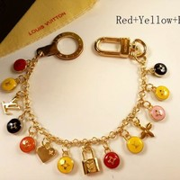 LV Women Fashion Multicolor Plated Bag Ornaments Key Buckle