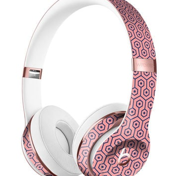 Navy Cells Over Coral  2 Full-Body Skin Kit for the Beats by Dre Solo 3 Wireless Headphones