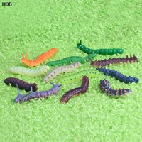 12 x Twisty Worm Realistic Fake Caterpillar Insect Educational Trick Toy  #T026#