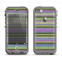 The Colorful Knit Pattern Apple iPhone 5c LifeProof Nuud Case Skin Set