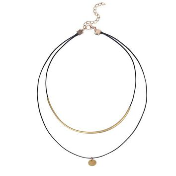 Boho Choker Gold Coins Pendant Shell Choker Necklace Women Jewelry Black Velvet Leather Chockers Necklaces Collier Femme