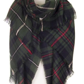 Blanket Scarf- Green