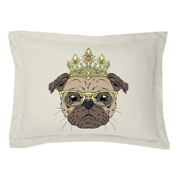 The Puggliest Pug Pillow Shams