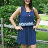 Navy Two-Tier Dress