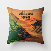 Wilderness Seeker Throw Pillow by Shawn King