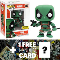 Solo - Deadpool Suit (Hot Topic Exclusive): Funko POP! x Marvel Universe Vinyl Bobble-Head Figure + 1 FREE Official Marvel Trading Card Bundle [93518]