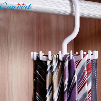 Rotating 20 Hook Circular Tie Rack