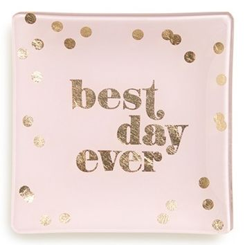 Fringe Studio 'Best Day Ever' Glass Trinket Tray