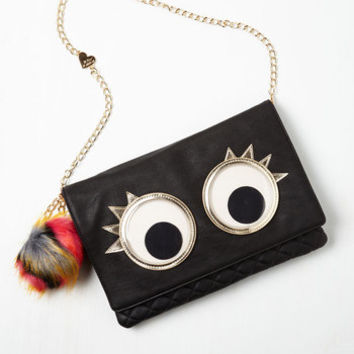 80s What's the Big Eye-dea? Bag by Betsey Johnson from ModCloth