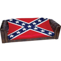 Rebel Flag Print Fleece Throw
