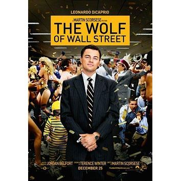 Wolf Of Wall Street poster Metal Sign Wall Art 8in x 12in
