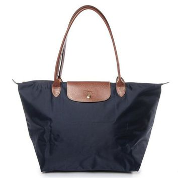 ONETOW Longchamp Le Pliage Large Nylon Tote Bag Handbag in New Navy