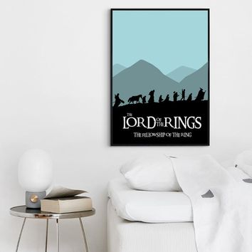 Simple Abstract Movie The Lord Of The Rings Canvas Art Painting Print Picture Poster Picture Wall Bedroom Home Decoration Murals