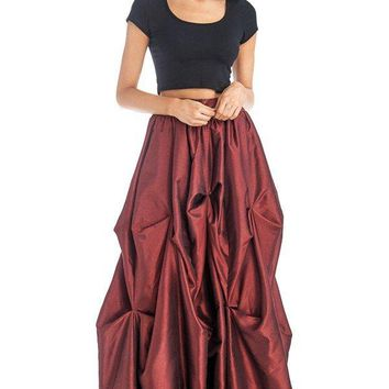 Fiona Floor Length Tiered Ruffle Maxi Skirt