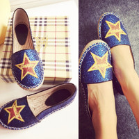 Autumn Embroidery Flats Casual Shoes [4920608260]