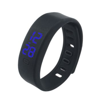 Womens Rubber LED Watch Date Sports Bracelet Digital Wrist Watch